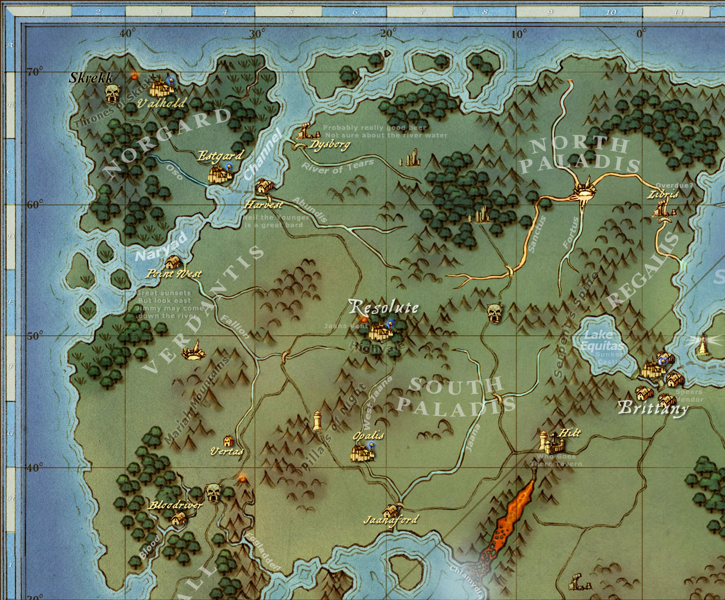 Shroud Of The Avatar World Map.The North West Shroud Of The Avatar Forum